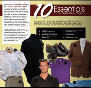 10 essentials for the stylish man
